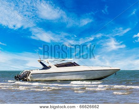Motorboat At Beauty Beach