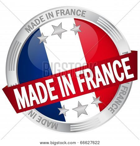 Button With Banner Made In France