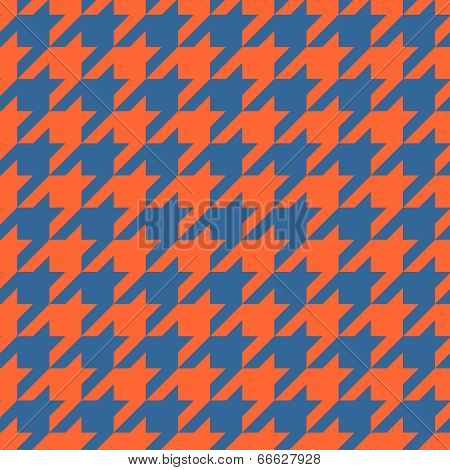 Houndstooth vector tile pattern. Traditional Scottish plaid fabric for colorful seamless wallpaper