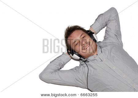 Entertainment - Modern Young Man Listening To Music