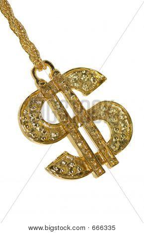 Símbolo de dólar ouro