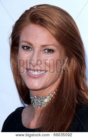 LOS ANGELES - MAY 29:  Angie Everhart at the 16th Annual From Slavery to Freedom Gala Event at Skirball Center on May 29, 2014 in Los Angeles, CA