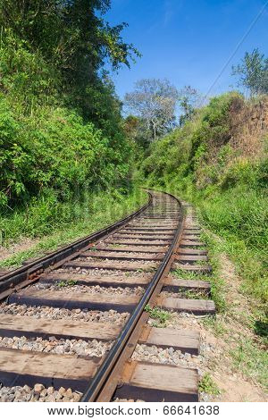 Old empty railway in Sri Lanka