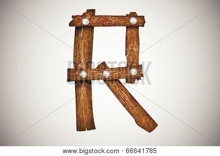 Wooden alphabet letter