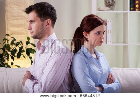 Sad Marriage After Quarrel