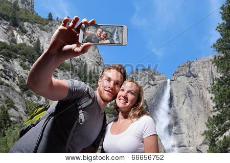 Happy Couple Selfie In Yosemite