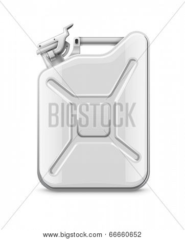 Fuel can for petrol. Eps10 vector illustration. Isolated on white background