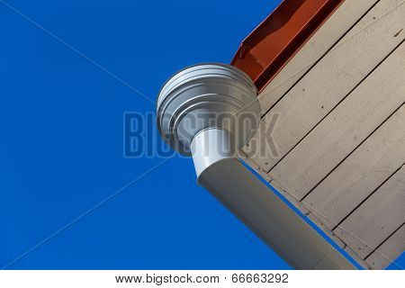 Rain Gutter On House
