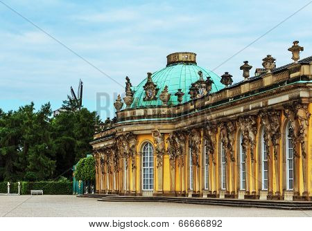 German castle Sanssouci, Potsdam, near Berlin