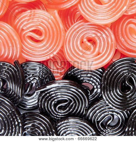 Red And Black Licorice Wheels