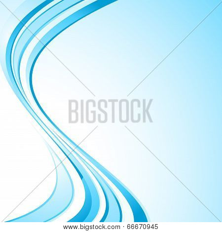 Bright Waves Abstract Swoosh Background