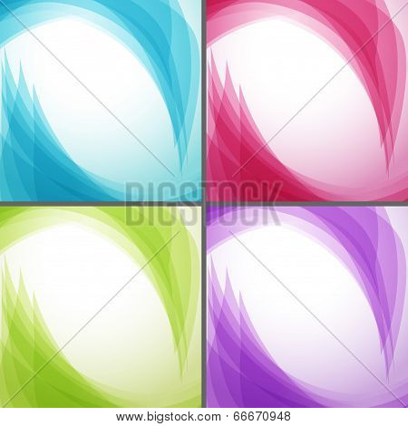 Bright Wavy Arrows Backgrounds Collection