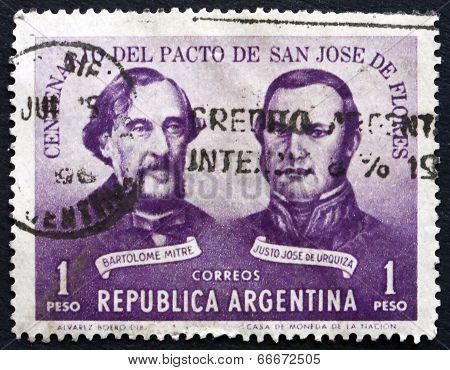 Postage Stamp Argentina 1959 Treaty Of San Jose De Flores