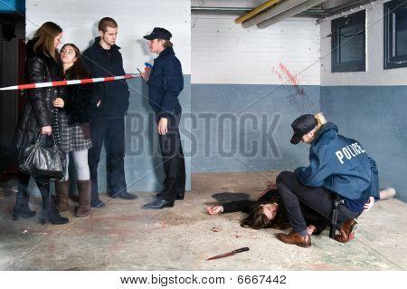 Escena de asesinato