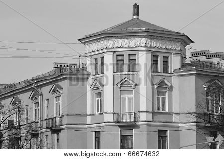 The Building In The Style Of Stalin In Kolpino.