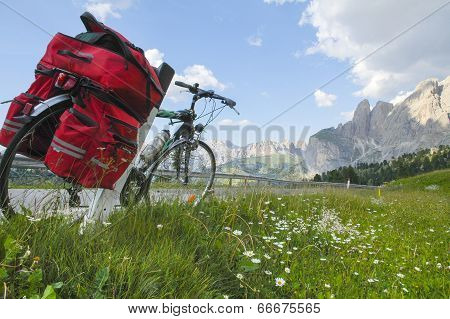 Passo Sella, Dolomites: A Bicycle