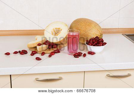 Melon  And Cornelian Cherry