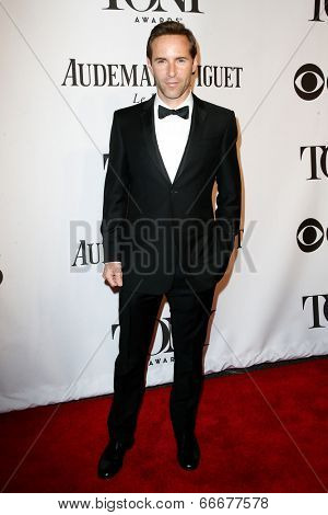 NEW YORK-JUNE 8: Model Alessandro Nivola attends American Theatre Wing's 68th Annual Tony Awards at Radio City Music Hall on June 8, 2014 in New York City.
