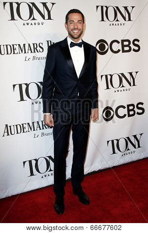 NEW YORK-JUNE 8: Actor Zach Levi attends American Theatre Wing's 68th Annual Tony Awards at Radio City Music Hall on June 8, 2014 in New York City.