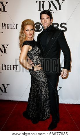 NEW YORK-JUNE 8: Actor Andy Karl (R) and wife Orfeh attend American Theatre Wing's 68th Annual Tony Awards at Radio City Music Hall on June 8, 2014 in New York City.