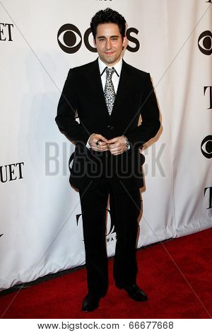 NEW YORK-JUNE 8: Actor John Lloyd Young attends American Theatre Wing's 68th Annual Tony Awards at Radio City Music Hall on June 8, 2014 in New York City.