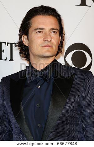 NEW YORK-JUNE 8: Actor Orlando Bloom attends American Theatre Wing's 68th Annual Tony Awards at Radio City Music Hall on June 8, 2014 in New York City.