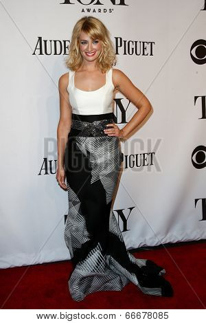 NEW YORK-JUNE 8: Actress Beth Behrs attends American Theatre Wing's 68th Annual Tony Awards at Radio City Music Hall on June 8, 2014 in New York City.