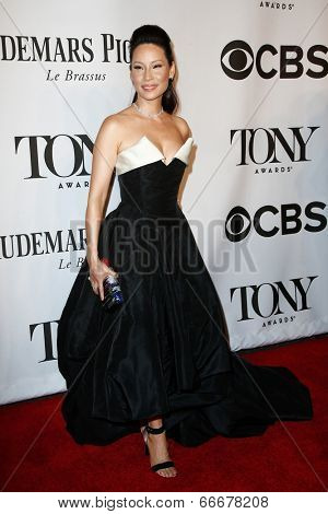NEW YORK-JUNE 8: Actress Lucy Liu attends American Theatre Wing's 68th Annual Tony Awards at Radio City Music Hall on June 8, 2014 in New York City.
