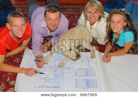 Family with new home plans