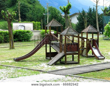 Slide Playground Village Countryside