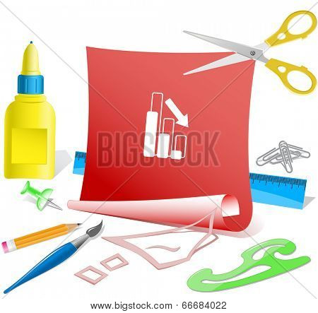 Graph degress. Paper template. Vector illustration.