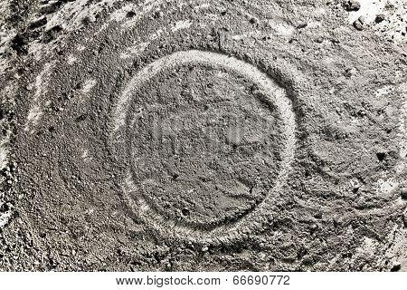 Circle Shape Made Of Ash