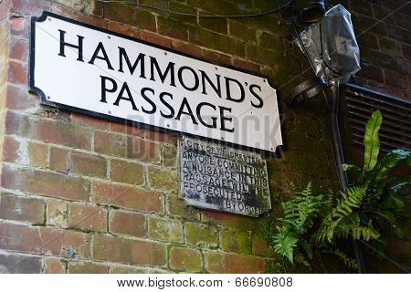 Hammond's Passage With An Archaic Public Notice