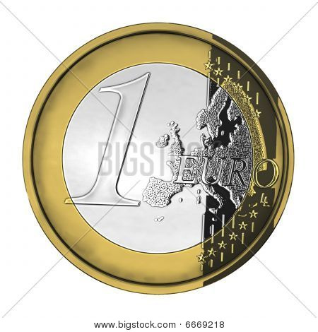 One Shiny Euro Coin