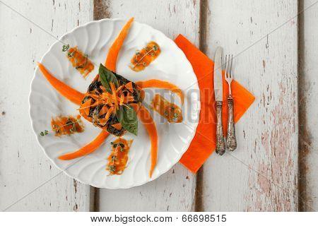 Pumpkin Pasta Timbale