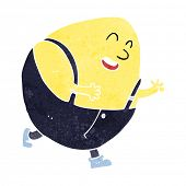 image of nursery rhyme  - cartoon humpty dumpty egg character - JPG