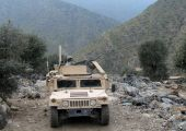 image of humvee  - This picture was taken while on patrol in Eastern Afghanistan - JPG