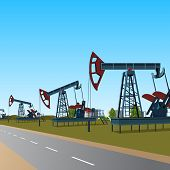 stock photo of oilfield  - oilfield - JPG