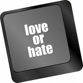 picture of love hurts  - love or hate relationships communication impressions ratings reviews computer keyboard key - JPG