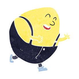 stock photo of nursery rhyme  - cartoon humpty dumpty egg character - JPG