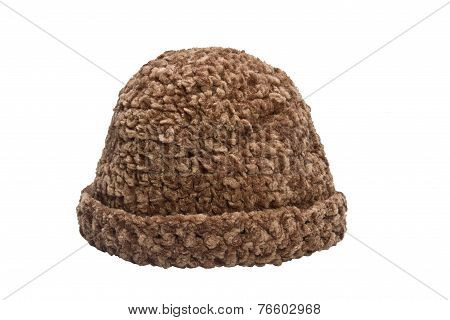 brown woolen knit hat