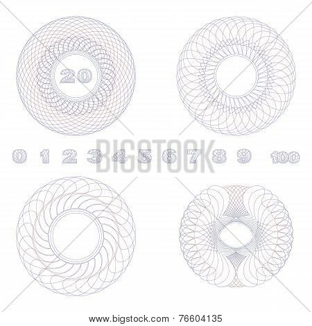 Decorative Guilloche Rosettes