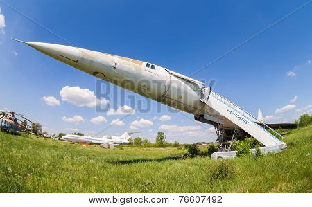 Samara, Russia - May 25, 2014: Tupolev Tu-144 Plane Was The First In The World Commercial Supersonic