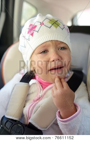 Girl Crying In Car