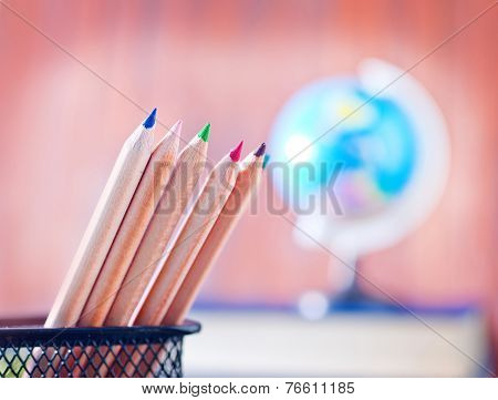 pencils and note