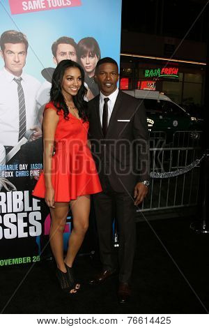LOS ANGELES - NOV 20:  Corinne Bishop, Jamie Foxx at the
