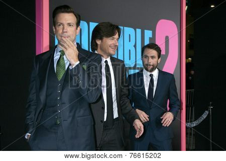 LOS ANGELES - NOV 20:  Jason Sudeikis, Jason Bateman, Charlie Day at the