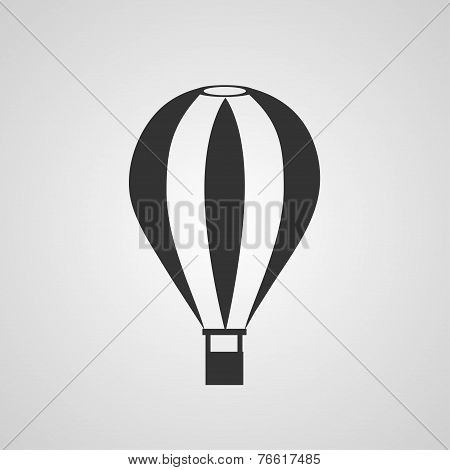 Vintage hot air balloon flat style