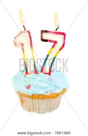 Seventeenth Birthday Cupcake