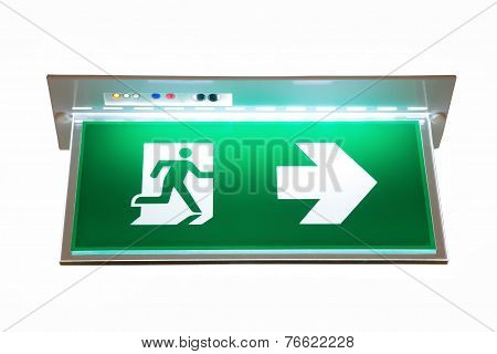 Sign Of Emergency Exit
